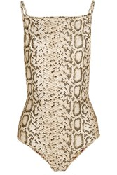 Zimmermann Essence Reversible Printed Swimsuit Animal Print