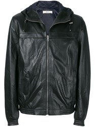 Bally Perforated Hooded Jacket Black