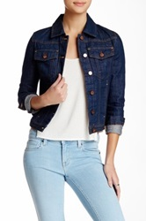 Genetic Denim Janna Cropped Denim Jacket Blue
