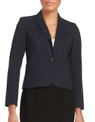 Calvin Klein Petite One Button Blazer Navy