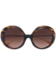 Christian Roth Eyewear Oversized Sunglasses Men Acetate Metal Other One Size Brown