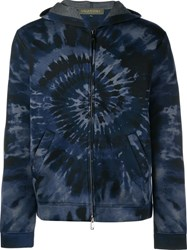 Valentino Tie And Dye Hoodie Blue