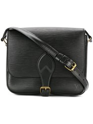 Louis Vuitton Vintage Cartouchiere Shoulder Bag Black