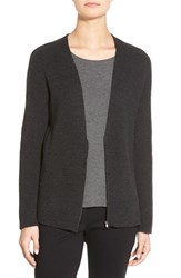 Women's Eileen Fisher Zip Front Merino Wool Cardigan