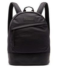 Want Les Essentiels Kastrup Leather Trimmed Nylon Backpack Black