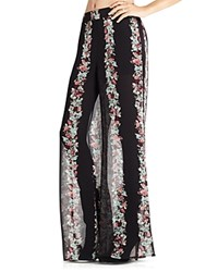 Bcbgeneration Printed Bell Bottom Pants Black Multi