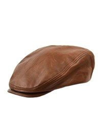 Crown Cap Leather Driver Hat Brown