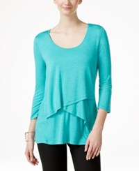 Miraclesuit Tiered Layered Top Turquoise
