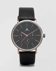 Asos Watch In Black And Burnished Copper Black