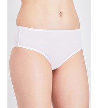 Bodas Basics Stretch Cotton High Waisted Briefs White
