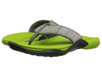 Crocs Swiftwater Flip Graphite Volt Green Men's Slide Shoes Gray