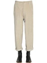 Haider Ackermann Stretch Cotton Corduroy Pants Sand
