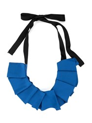 Undercover Pleated Ribbon Necklace Blue