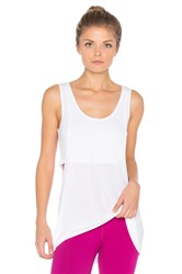 Beyond Yoga On And Off Ribbed 2 Fer Tank White