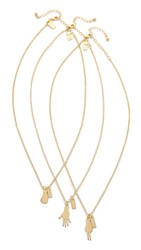 Kate Spade Rock Paper Scissors Necklace Gold