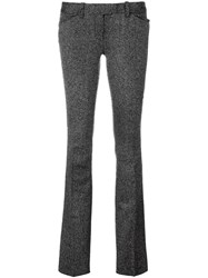 Barbara Bui Speckled Flared Trousers Black