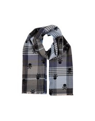 Hydrogen Oblong Scarves Dark Blue