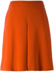 Odeeh A Line Pleated Skirt Yellow And Orange
