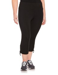 Marc New York Side Tie Accented Cropped Performance Leggings Black