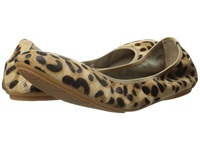 Hush Puppies Chaste Ballet Leopard Haircalf Women's Flat Shoes Animal Print