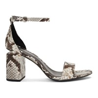 Alexander Wang Black And White Snake Abby Sandals
