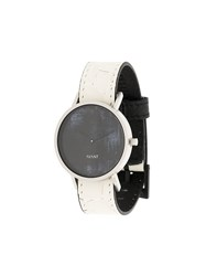 South Lane Avant Diffuse Watch Stainless Steel Calf Leather Glass White