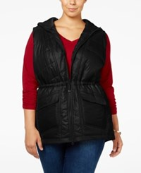 Styleandco. Style Co. Plus Size Hooded Puffer Vest Only At Macy's Deep Black