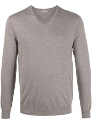 N.Peal The Conduit Fg V Neck Jumper Brown