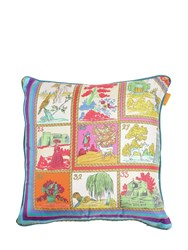 Etro Alcazaba Printed Silk Pillow Multicolor