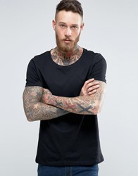 Asos T Shirt With Scoop Neck In Black Black