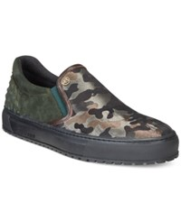 John Galliano Camo Athletic Slip On Sneakers Men's Shoes