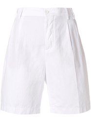 Aspesi High Waist Shorts White