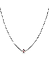 David Yurman Necklace With Pink Tourmaline Rhodalite Garnet And 18K Gold
