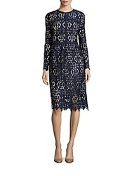 Alexia Admor Lace Long Sleeve Dress Navy