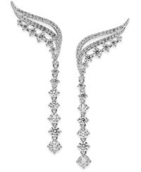 Danori Crystal And Pave Ear Climbers Clear