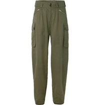 Nigel Cabourn Peak Performance Cotton Canvas Cargo Trousers Green