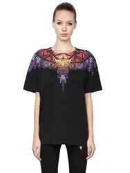 Marcelo Burlon Butterfly Printed Cotton Jersey T Shirt