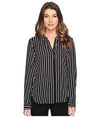B Collection By Bobeau Herriot Woven Blouse Stripe 1 Women's Blouse Multi