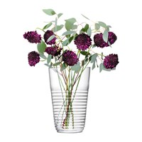 Lsa International Groove Vase Clear