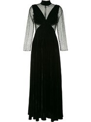 Huishan Zhang Sequin Embellished Lace Gown Black