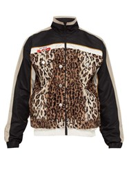 Martine Rose Leopard Print Contrast Panel Jacket Multi