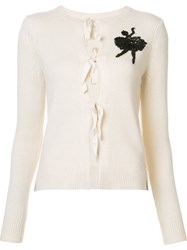 Marc Jacobs Sequinned Ballerina Cardigan White