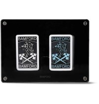 Bamford Watch Department Set Of Two Illustrated Playing Cards Decks Black