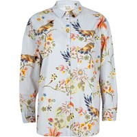 River Island Womens Blue Stripe And Bird Print Shirt