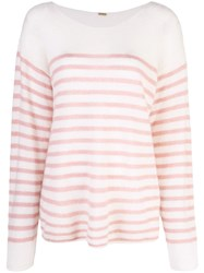 Adam By Adam Lippes Oversized Striped Sweater White