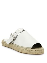 Rebecca Minkoff Gala Leather Espadrille Slides Optic White