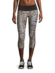 Prismsport Printed Pull On Capri Pants Sahara