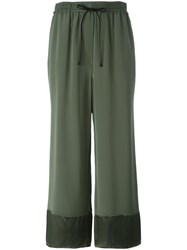 3.1 Phillip Lim Cropped Palazzo Pants Green