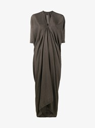 Rick Owens Kite Silk Blend Draped Gown Grey Black