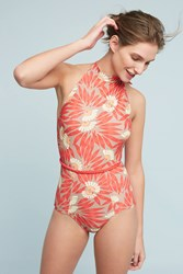 Anthropologie Seea Karina One Piece Bright Red